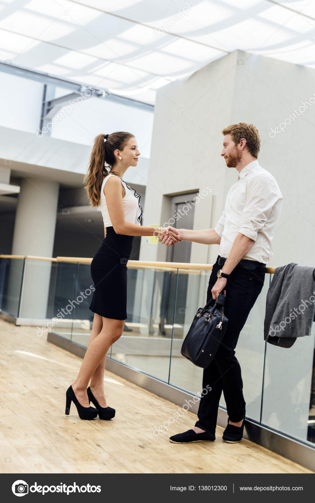 Business People Greeting Each Other Stock Photo Nd3000 138012300