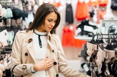 Beautiful woman shopping lingerie