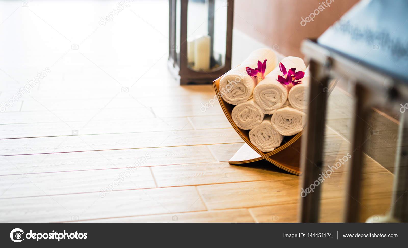 Wellness massage salon decoratie u stockfoto nd