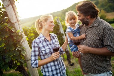 Wine grower family