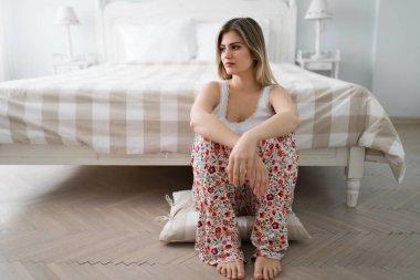 Pensive single woman