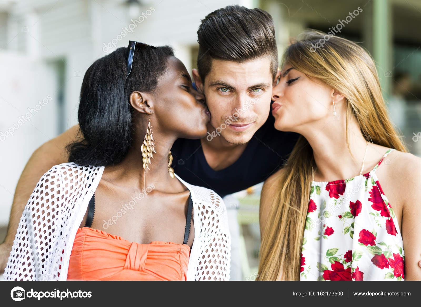 gorgeous women kissing