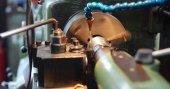 Fotografie Kovů CNC frézka soustruh v továrně kovů průmyslu