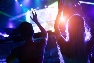 Picture of dancing party people at music festival