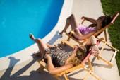 Pihenésre és napozásra nyáron szép nők