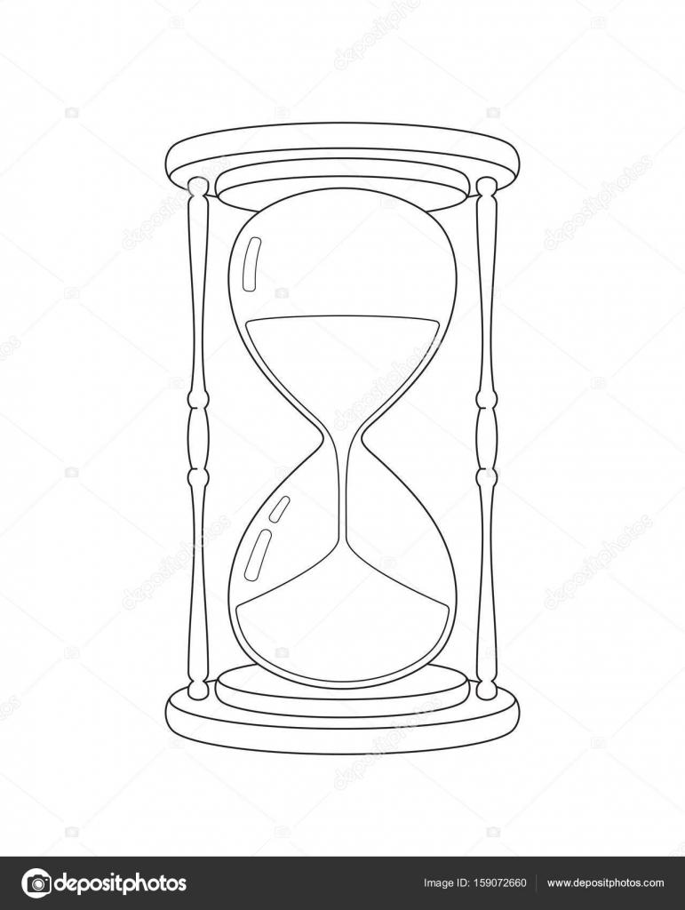 Vector Hourglass Sketch Stock Vector C Stevepaint 159072660