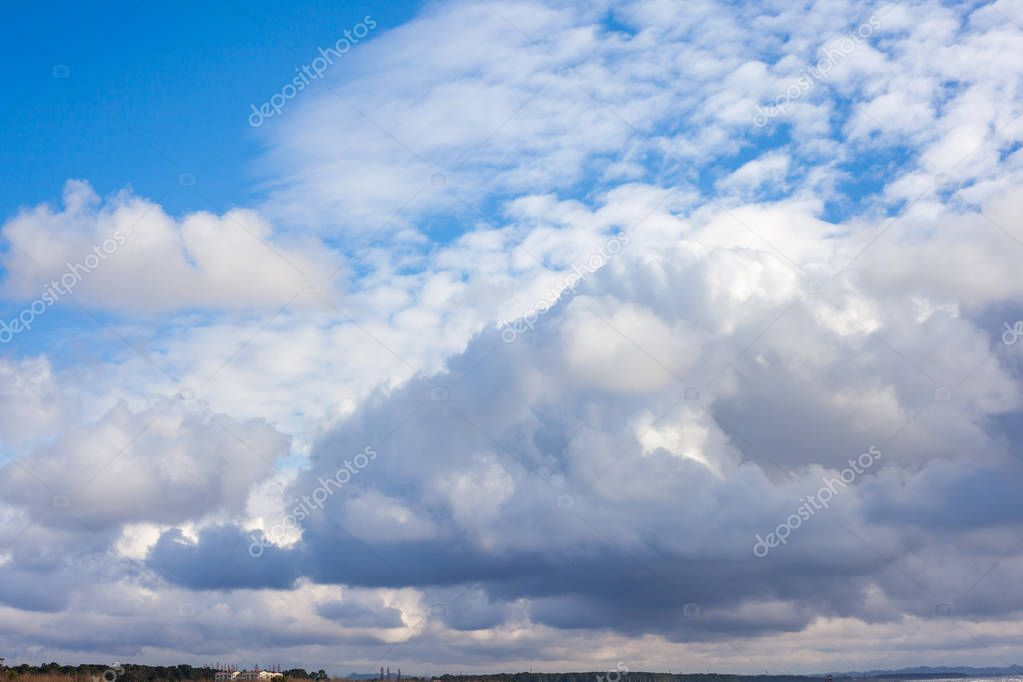 Clouds with blue sky , natural texture