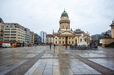 25.01.2018 Berlin, Germany - Church in Gendarmenmarkt square in