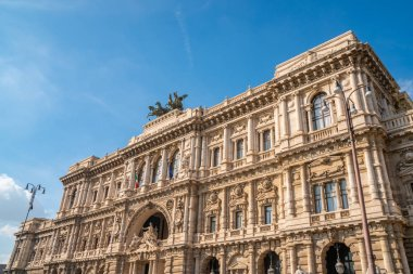 Architectural fragments of Palace of Justice, Corte Suprema di Cassazione, Rome
