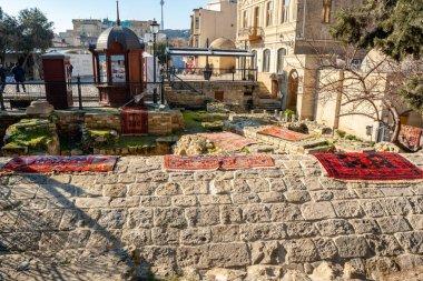 Baku, Azerbaijan 27 January 2020 - Inner city of Icheri Sheher. Fragment