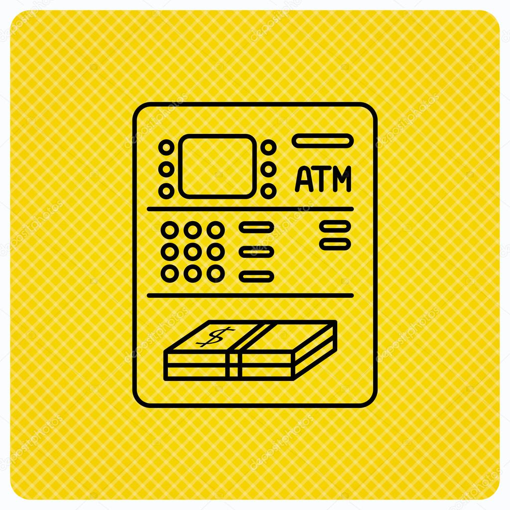 ATM icon  Automatic cash withdrawal sign  — Stock Vector