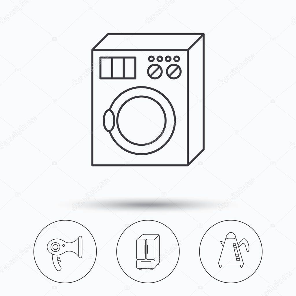 Teekanne Waschmaschine Und Fön Symbole Stockvektor Tanyastock