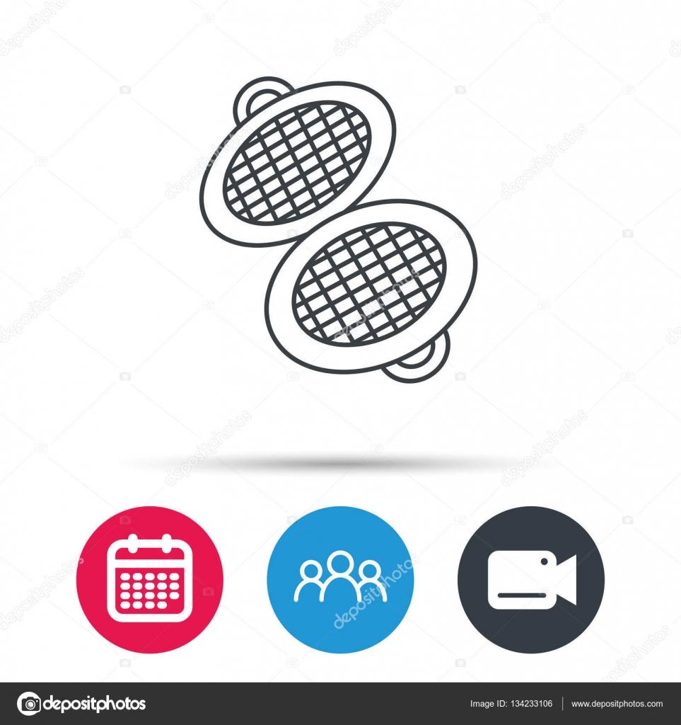 Waffeleisen-Symbol. Küche backen Tool Zeichen — Stockvektor ...