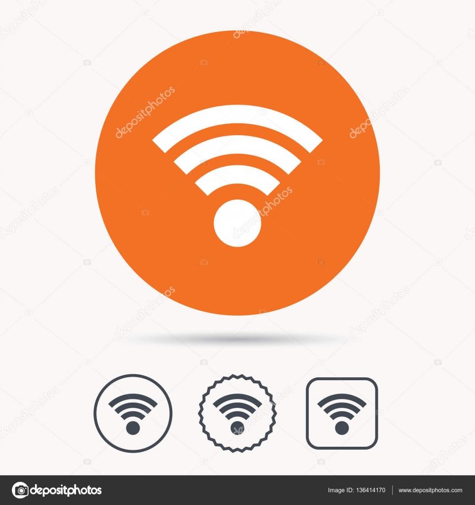 WiFi-Symbol. Drahtlose Internet-Zeichen — Stockvektor © Tanyastock ...