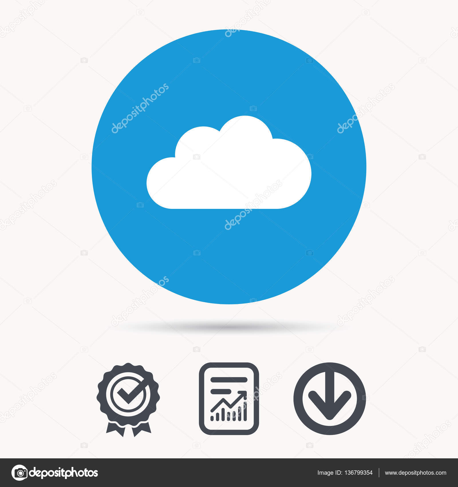 Cloud icon  Data storage technology sign  — Stock Vector