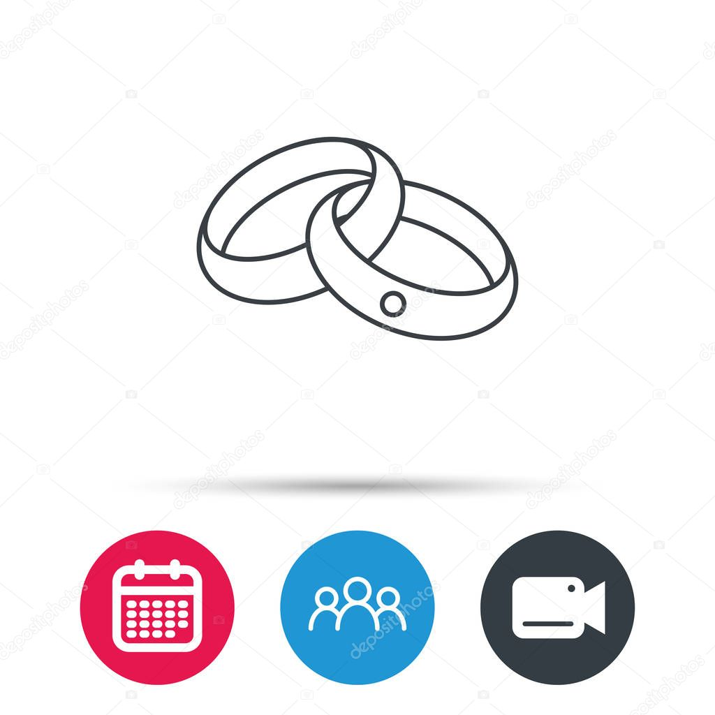 Wedding Rings Icon Bride And Groom Jewelery Stock Vector © Tanyastock 137073186: Icon Wedding Ring Bride At Reisefeber.org