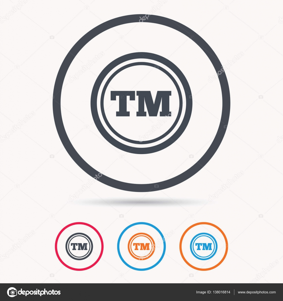 Registered Tm Trademark Icon Intellectual Work Stock Vector