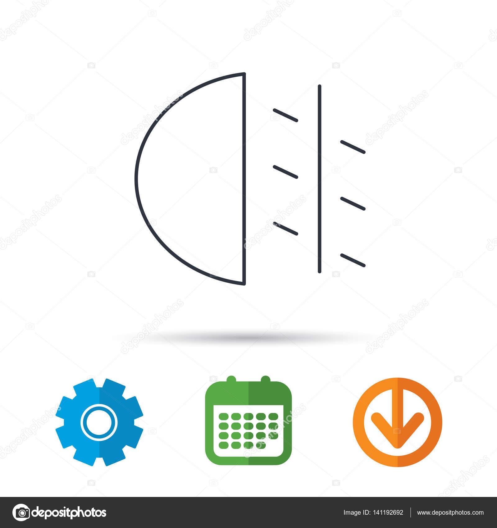 Nebel-Licht-Symbol. Auto-Strahl-Schild — Stockvektor © Tanyastock ...