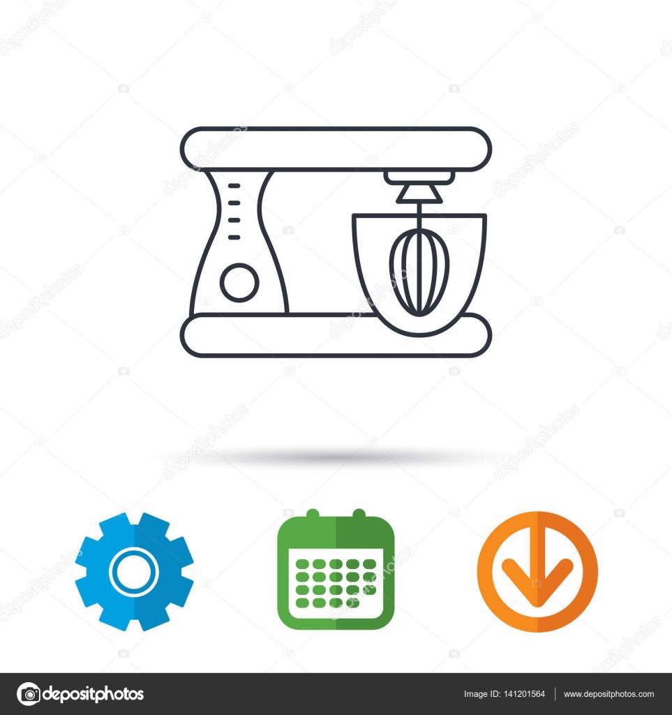 Mischer-Symbol. Elektrischen Mixer Zeichen — Stockvektor ...