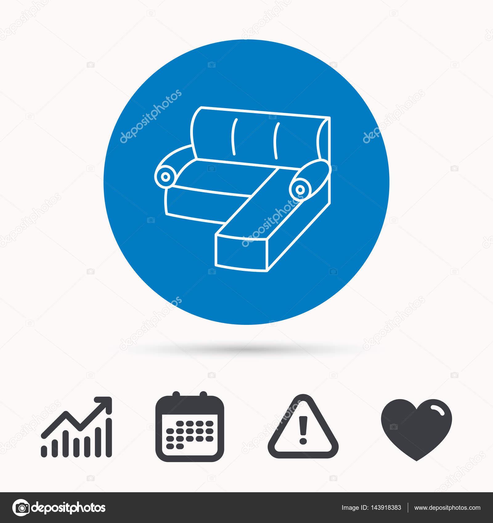Corner Sofa Icon Comfortable Couch Sign Stock Vector