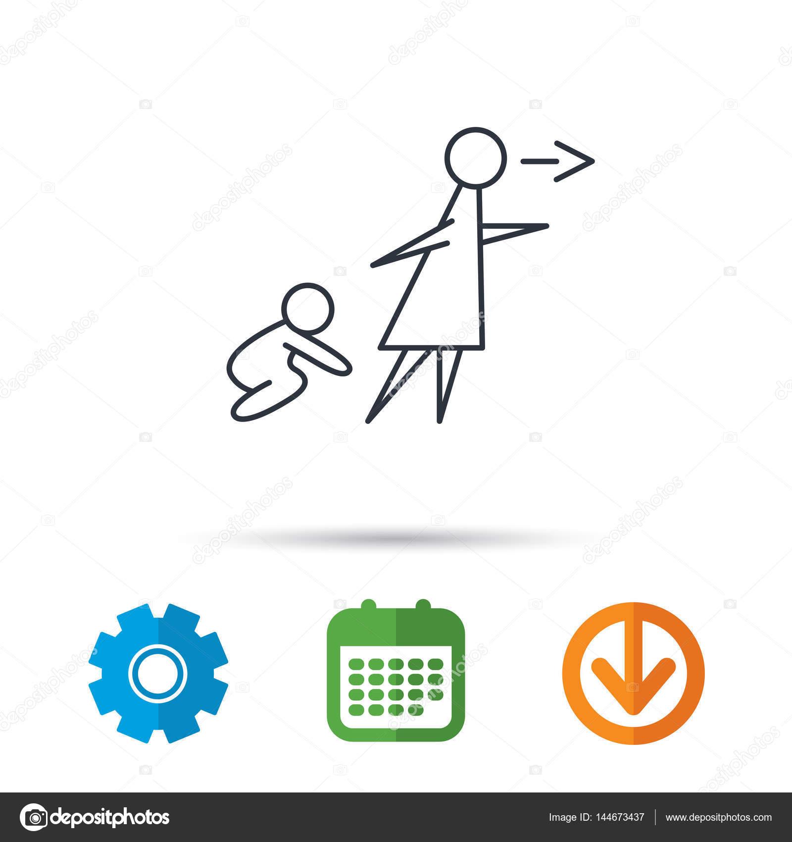 babysitting sign stock vector