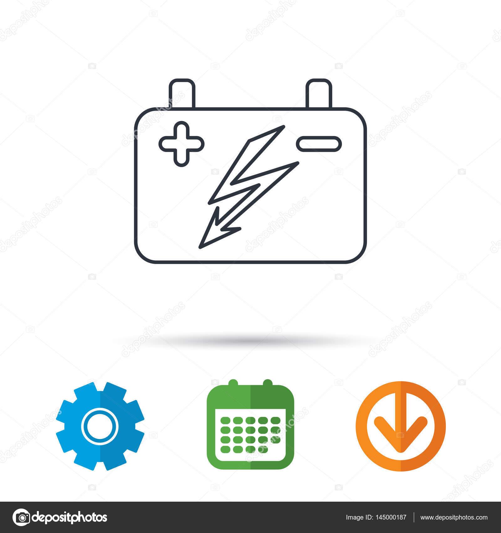 Akku-Symbol. Elektrische Akku-Zeichen — Stockvektor © Tanyastock ...