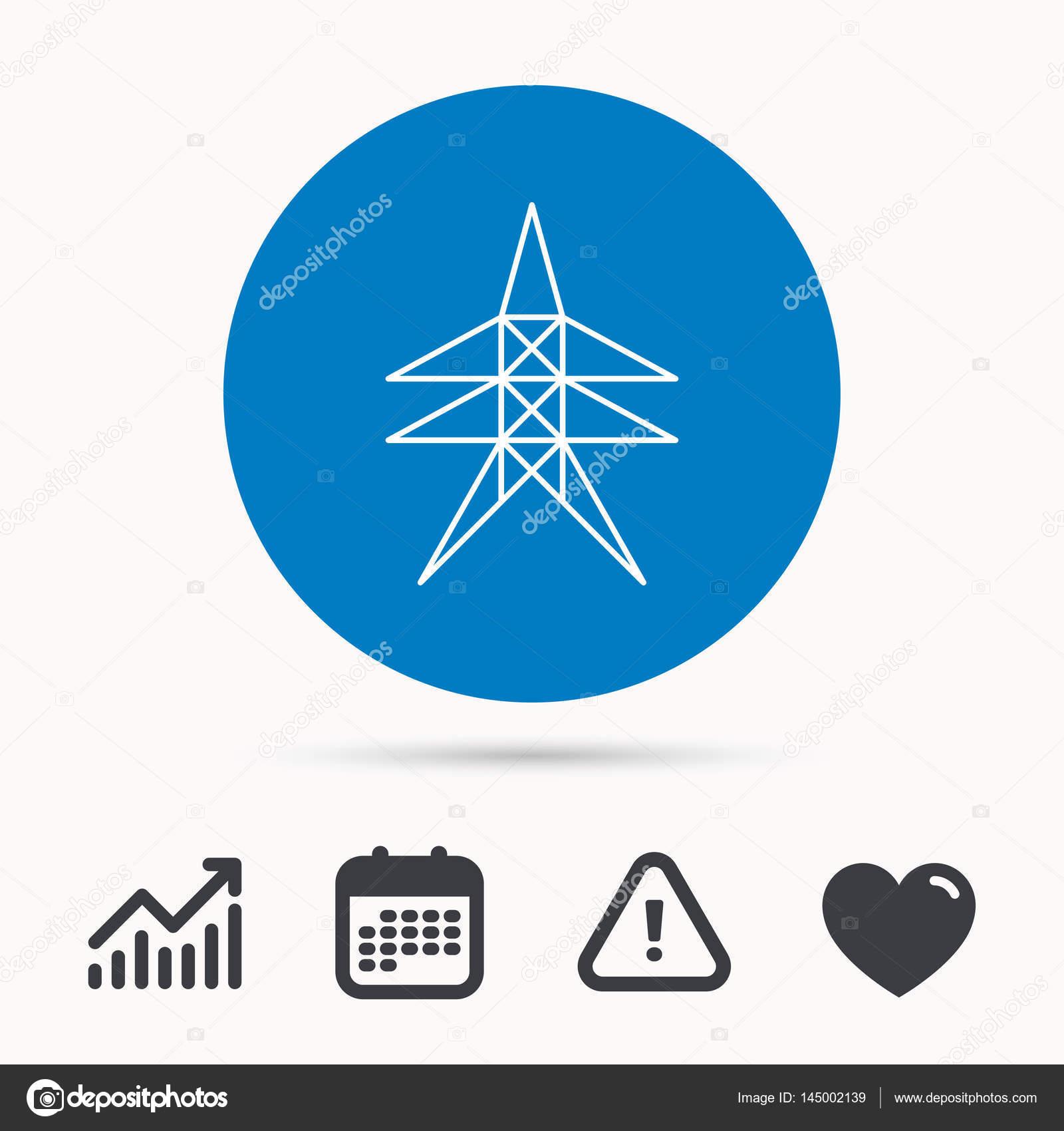Strom-Bahnhof-Symbol. Kraft-Turm-Zeichen — Stockvektor © Tanyastock ...