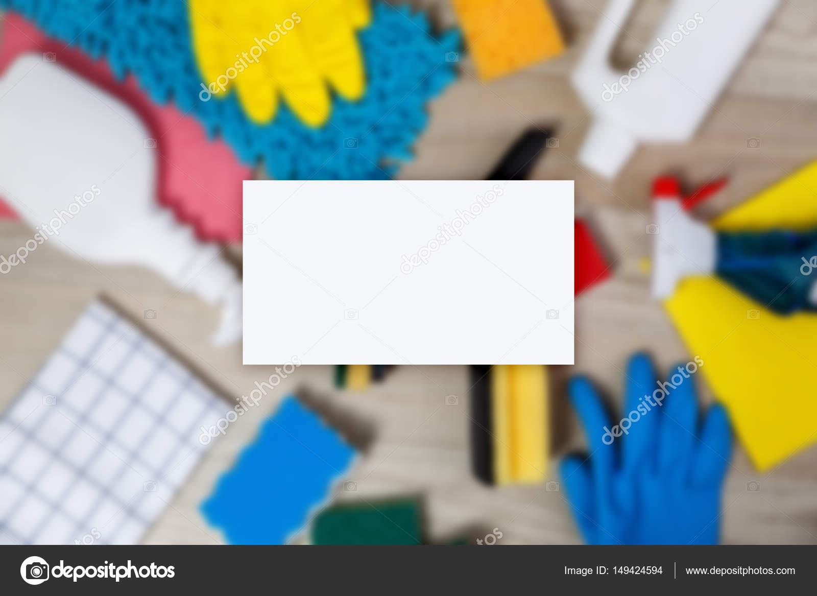 Maquette De Carte Visite Produits Nettoyage Maison Images Stock Libres Droits