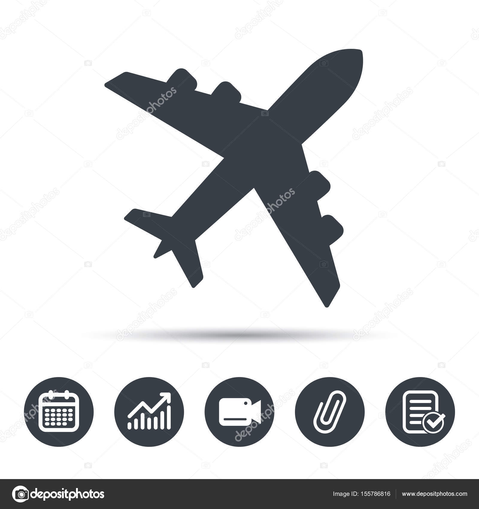 Plane Icon Flight Transport Sign Stock Vector Tanyastock