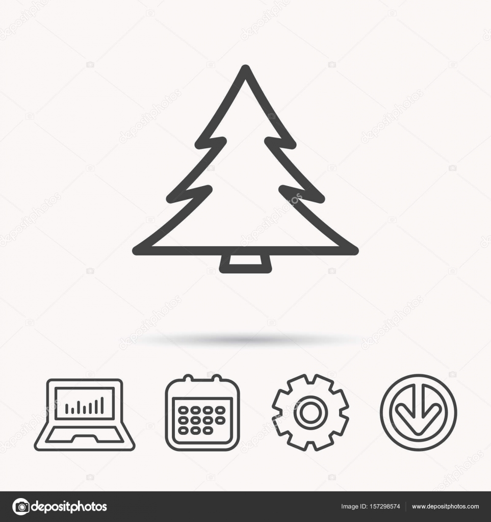 Christmas Arrow Signs.Christmas Tree Icon Forest Or Nature Sign Stock Vector