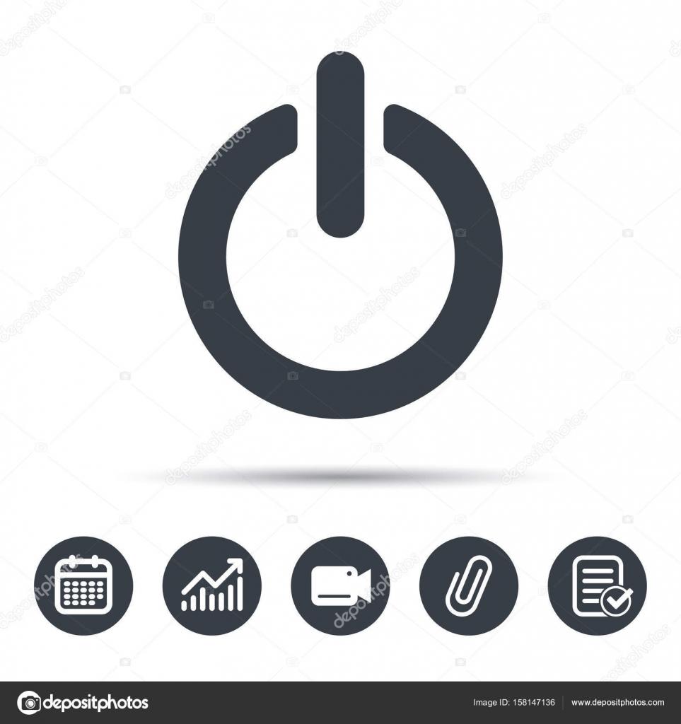 Off-Power-Symbol. Energie Schalter Zeichen — Stockvektor ...