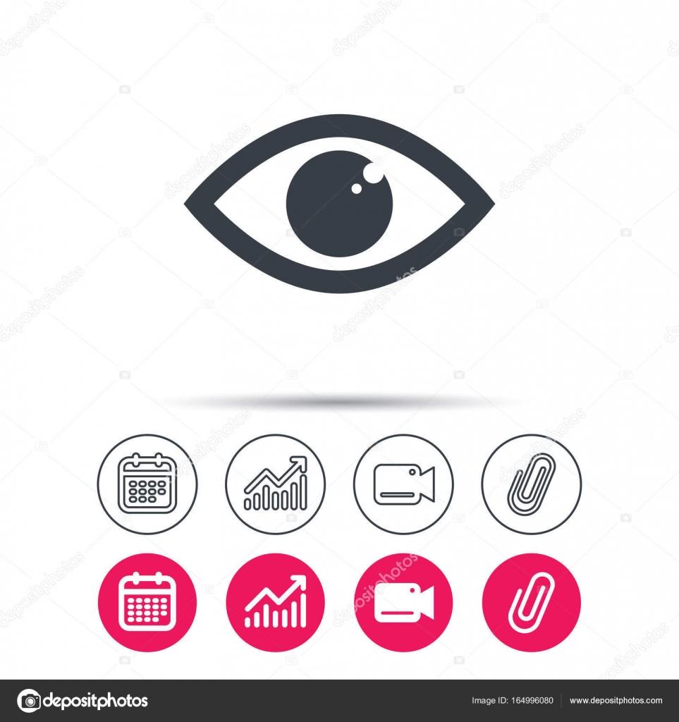 Augen-Symbol. Augapfel-Vision-Zeichen — Stockvektor © Tanyastock ...