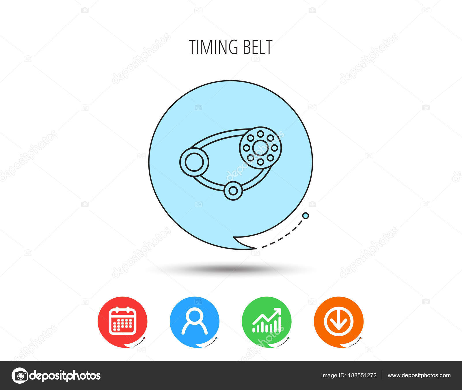 Timing belt icon. Generator strap sign. — Stock Vector © Tanyastock ...