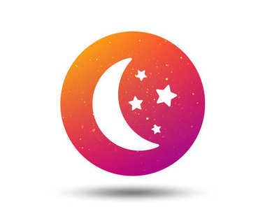 Moon and stars icon. Night sleep sign.