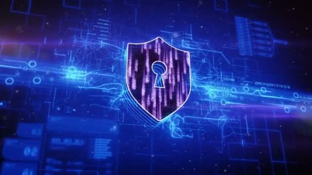 Absztrakt kék háttér megjelenő pajzs ikon