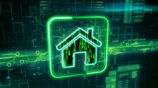 Home icon on abstract green background