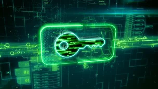 Ikona klíče na zeleném pozadí abstraktní