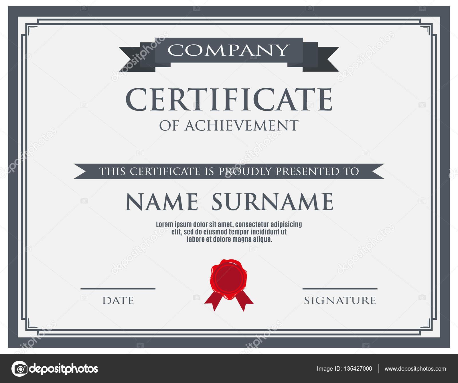 Zertifikat mit Wachs versiegeln Vorlage — Stockvektor © abscent ...