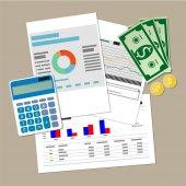 finanční zpráva koncept. Obchodní zázemí.