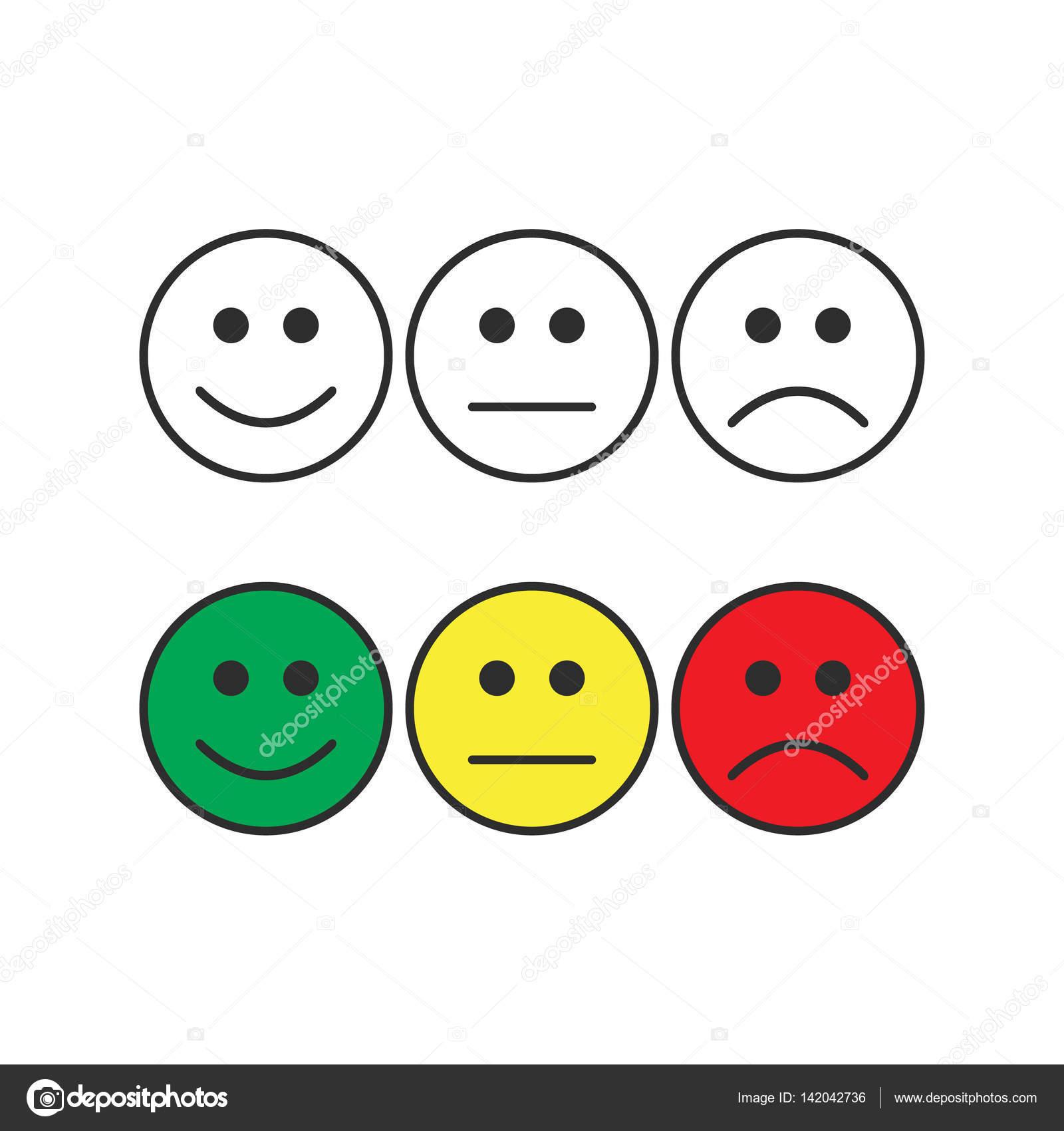 Smiley emoticons positieve neutrale en negatieve - Smiley en noir et blanc ...