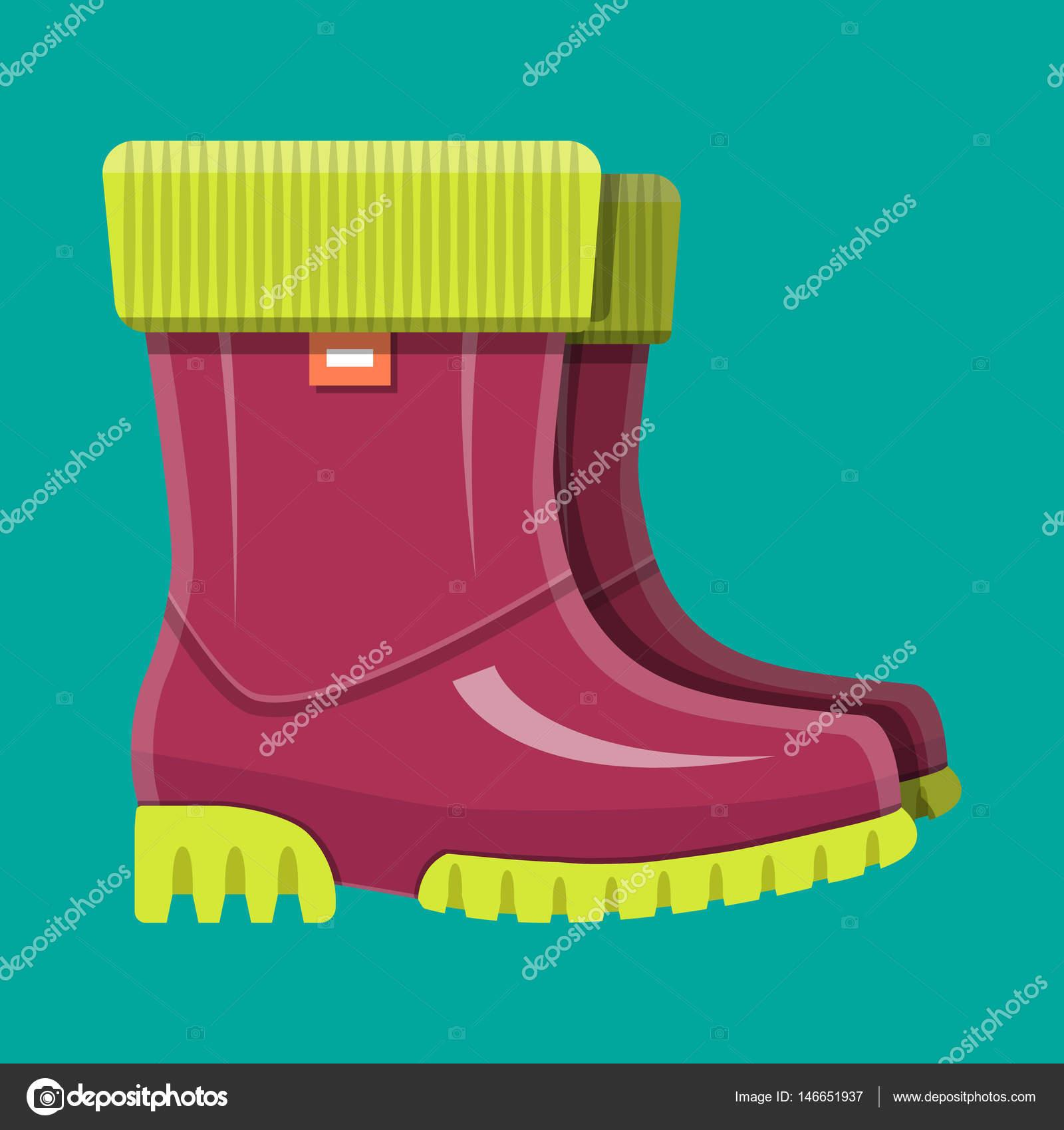 ad94a971c9a Botas de borracha. Sapatos para a chuva. Calçados impermeáveis ...