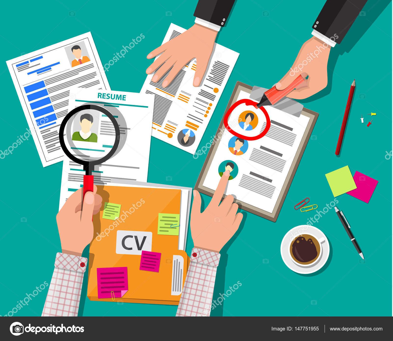 concepto de gestión de recursos humanos — Vector de stock © abscent ...