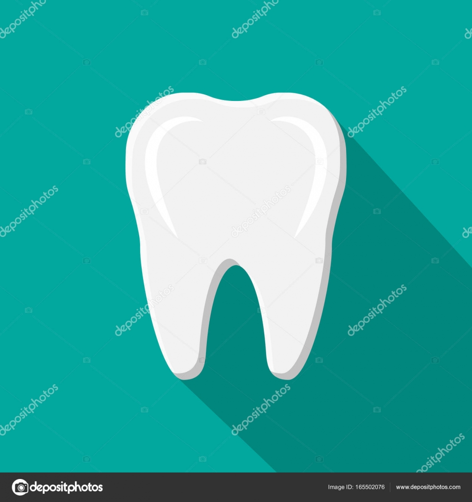 Icono de diente con sombra. Dientes humanos — Archivo Imágenes ...