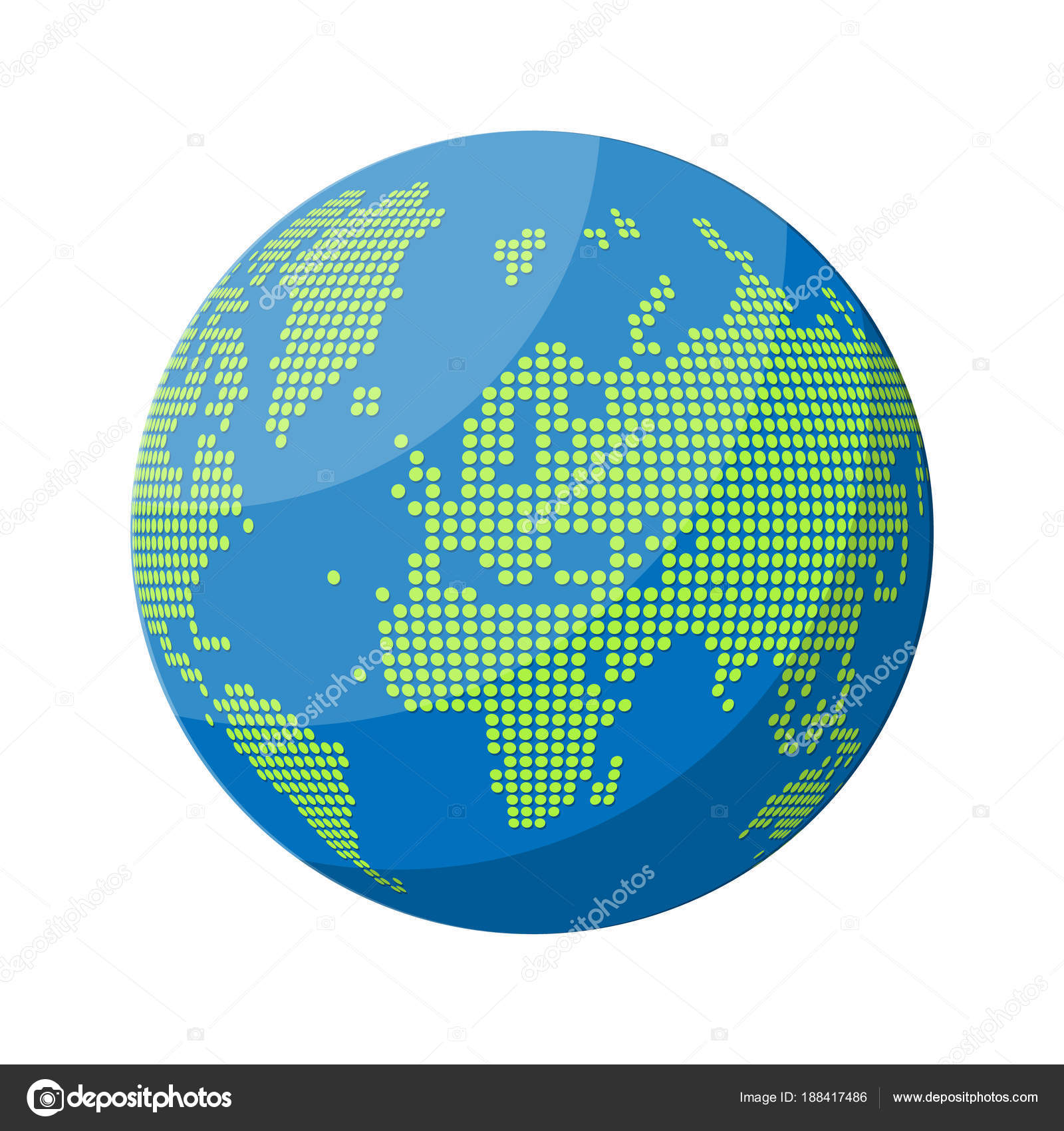 World map silhouette globe in dots vector de stock abscent world map silhouette globe in dots vector de stock gumiabroncs Gallery