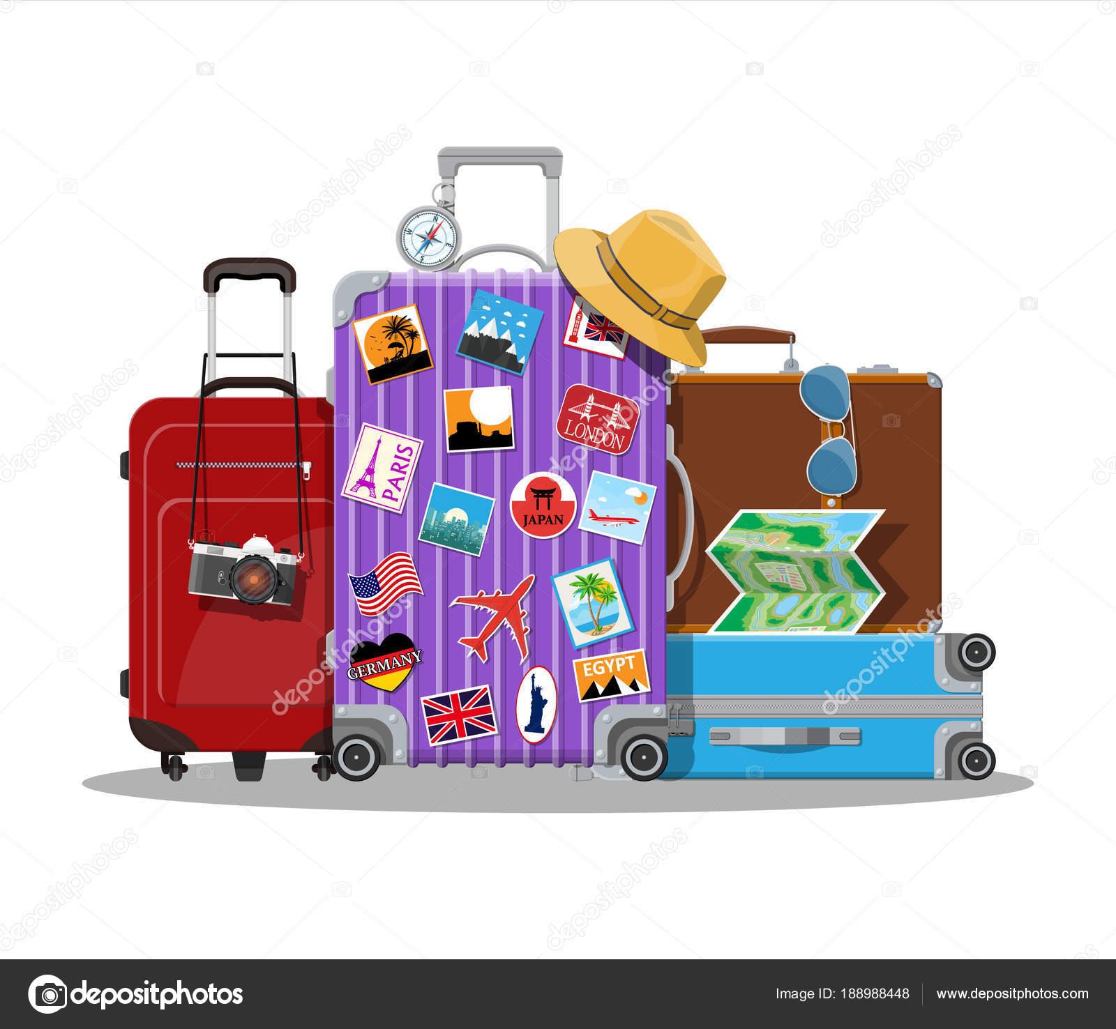 045eb586a8 Vintage και μοντέρνα ταξιδιωτική τσάντα — Διανυσματικό Αρχείο ...