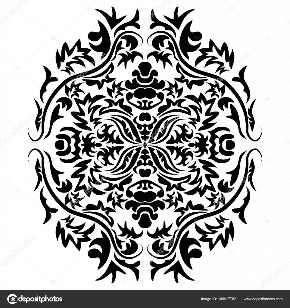 Vector line arte decoración, vignette recargado para la plantilla de ...