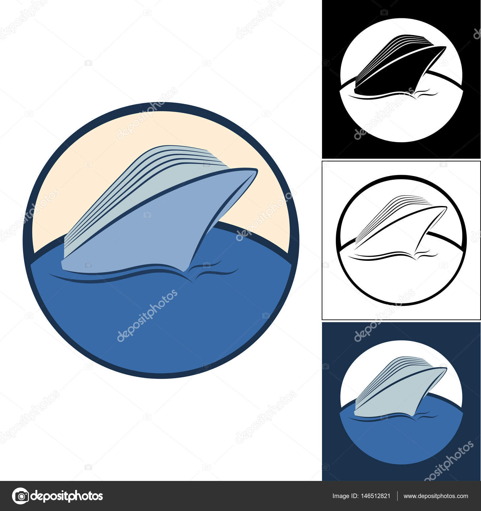 Logos Of Cruise Ships Stock Vector Evgeniybore - Cruise ship logos
