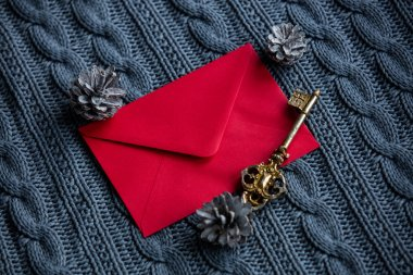 Red envelope and key