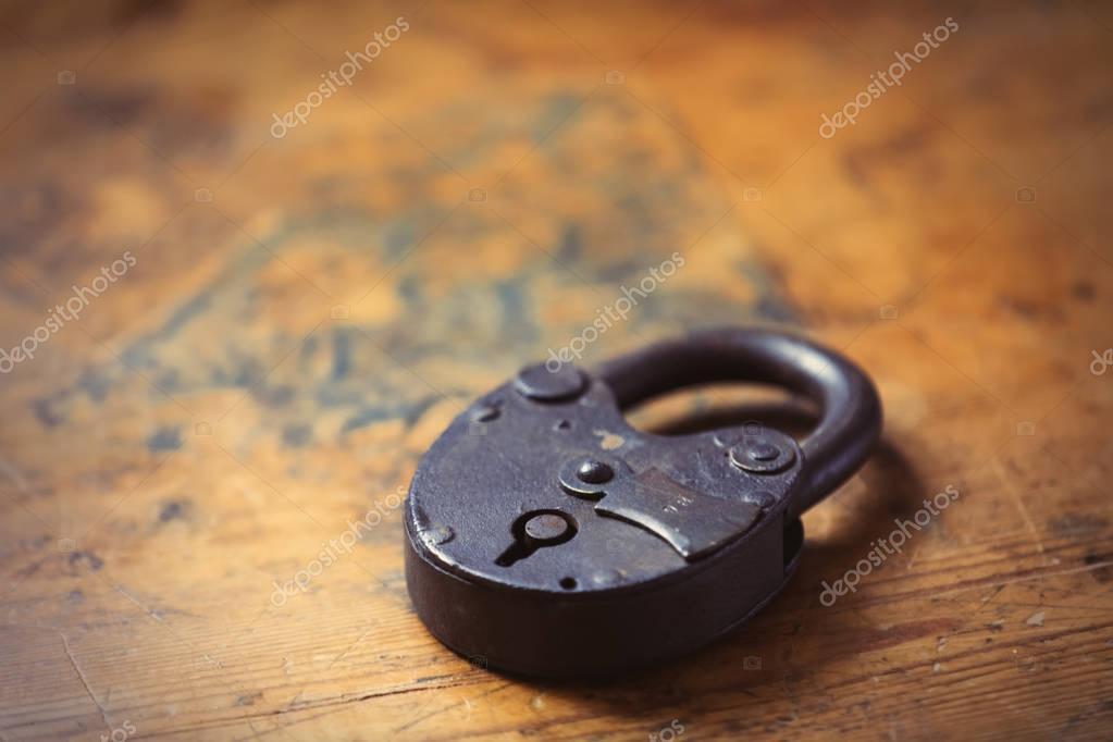 Vintage metal lock