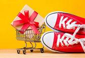 Sportovní čmuchání a nákupního košíku